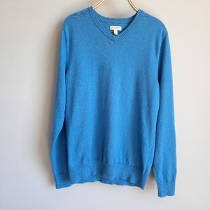 2/$15 Sonoma Baby Blue V-neck Sweater size Small